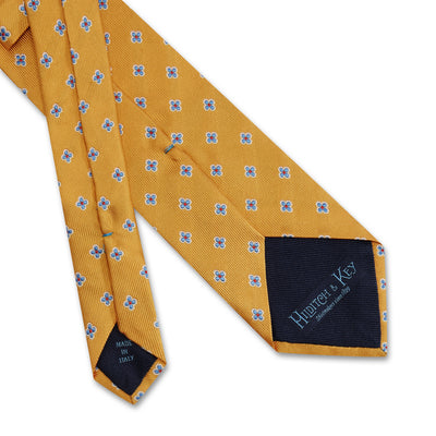 Yellow Flowers Woven Silk Tie