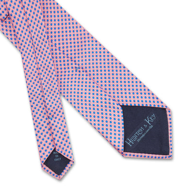 Pink Dots Woven Silk Tie