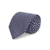 Navy Overchecked Woven Silk Tie