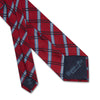 Red Large Overchecked Woven Silk Tie