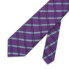 Purple Large Overchecked Woven Silk Tie
