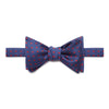 Navy & Red Spots Silk Handmade Bow Tie
