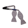 Grey & White Spots Silk Handmade Bow Tie