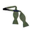 Green & White Spots Silk Handmade Bow Tie