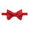 Red & White Spots Silk Handmade Bow Tie