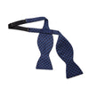 Navy, Blue & Light Blue Chain Links Silk Handmade Bow Tie