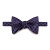 Navy, Lilac & Purple Chain Links Silk Handmade Bow Tie