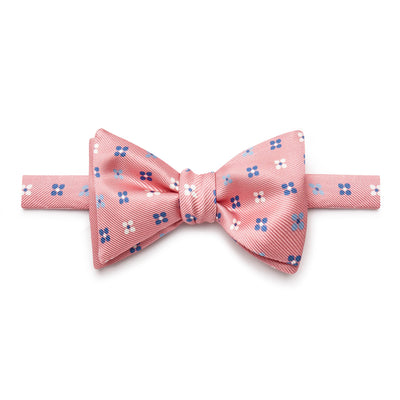 Pink Floral Silk Handmade Bow Tie