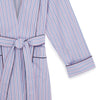 Ladies Blue, Navy & Pink Stripe Cotton Gown