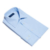 Contemporary Fit, Classic Collar, 2 Button Cuff Shirt In Sky Blue Hairline