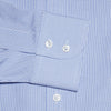Contemporary Fit, Cutaway Collar,2 Button Cuff Shirt In Blue And White Check