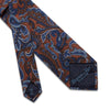 Brown & Blue Paisley Printed 100% Cashmere Tie