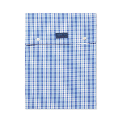 Blue With Navy Check With White Piping 100% Cotton Nightshirt