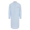 Blue Stripe 100% With Red Piping Cotton Nightshirt