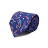 Navy & Purple Paisley Printed Silk Tie