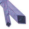 Pink With Blue Diamonds Printed Silk Tie