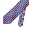 Red With Blue Diamonds Printed Silk Tie