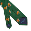 Big Cat Sanctuary Tiger  Woven Silk Tie In Green