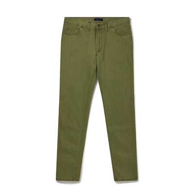 Apple Green Brushed Cotton Jeans