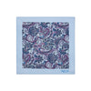 Blue Paisley 100% Cotton Handkerchief