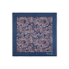 Navy 100% Cotton Handkerchief With Pink Paisley