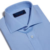 Contemporary Fit, Cutaway Collar, Two Button Cuff Shirt In Plain Blue Poplin
