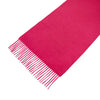 Raspberry 100% Cashmere Scarf With Embroidary