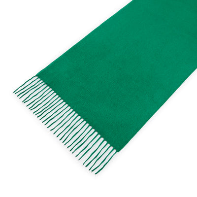 Shamrock Green 100% Cashmere Scarf With Embroidary