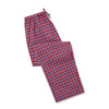 Red, Blue & White Checked Brushed Cotton Loungewear Bottoms