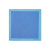 Turquoise & Blue Checkerboard Silk Handkerchief