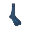 Short Plain Blue Cotton Socks