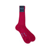 Short Plain Cerise Cotton Socks