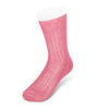 Short Plain Pink Cotton Socks