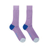 Lilac Cotton Socks with Contrast Heel & Toe