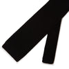 Plain Black Knitted Silk Tie