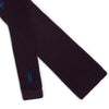 Plain Dark Purple Knitted Silk Tie