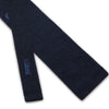 Navy Knitted Silk Tie with White Spots