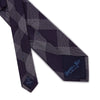 Purple with White Check Woven Silk Tie