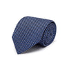 Navy Silk Tie with White & Blue Spots