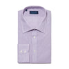 Contemporary Fit, Classic Collar, 2 Button Cuff Shirt in a Lilac & White Check Twill Cotton