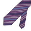 Purple Woven Silk Tie with Blue & White Stripes