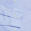 Contemporary Fit, Classic Collar, 2 Button Cuff Shirt in a Plain Mid Blue Sea Island Quality Poplin Cotton