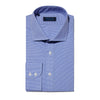 Contemporary Fit, Cut-away Collar, 2 Button Cuff Shirt in a Blue & White Shepherds Check Poplin Cotton