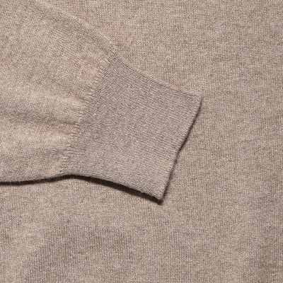 Natural Cashmere V-Neck Jumper