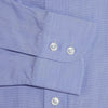 Classic Fit, Classic Collar, 2 Button Cuff Shirt in a Plain Blue End-On-End Cotton