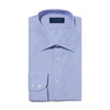 Classic Fit, Classic Collar, 2 Button Cuff Shirt in a Blue & White Hairline Poplin Cotton