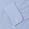 Classic Fit, Classic Collar, Double Cuff Shirt in a Blue & White Medium Bengal Poplin Cotton