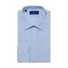 Contemporary Fit, Classic Collar, 2 Button Cuff Shirt in a Blue, White & Navy Check Sea Island Quality Poplin Cotton