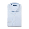 Contemporary Fit, Cut-away Collar, 2 Button Cuff Shirt in a Blue & White Textured Twill Cotton