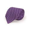 Purple Printed Silk Tie with White Medium Spots